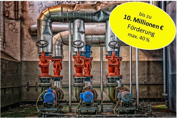 Förderung von Abwärmenutzung und Energieeffizienz