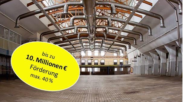 40 % für Lüftungsanlage für Produktionsprozesse (Neubau und Erweiterung)