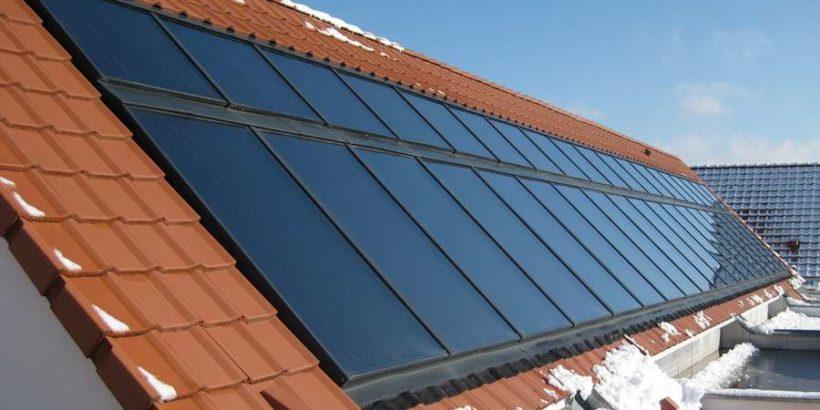 Solarthermie-Sonnenhaus-Solarthermiekollektoren