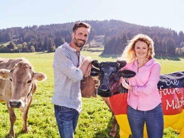 Faire Produktion von Milch.